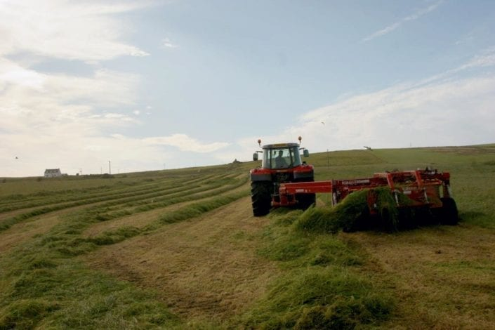 Silage at Octomore Farm
