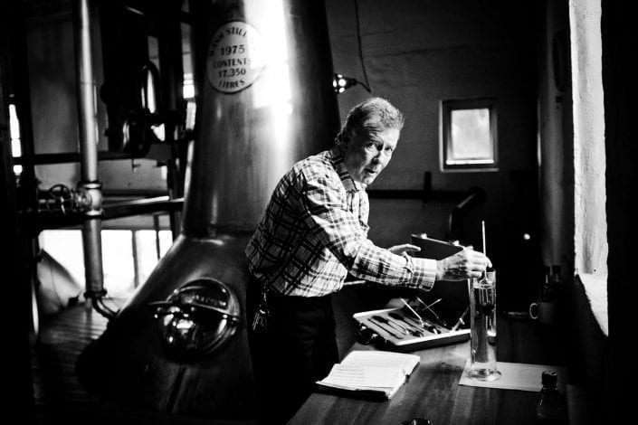 Jim McEwan in the still house