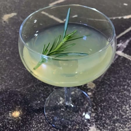sweet lemon and foraged herb cocktail