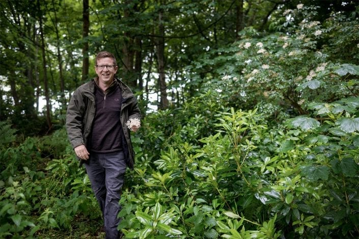 James Donaldson in the woods