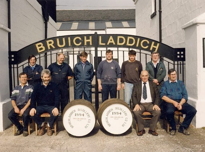 The Bruichladdich workforce in 1994