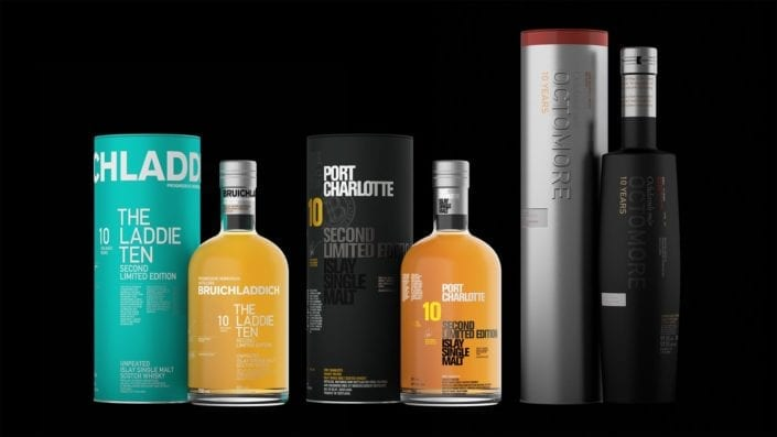 The Tens Troika - Bruichladdich Tens Second Editions