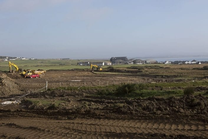 The new warehouse site at Coultorsay